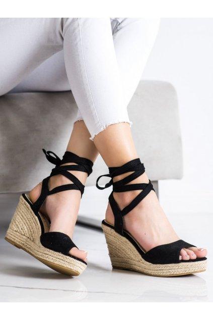 Čierne sandále na platforme Sabatina kod DM19-49B