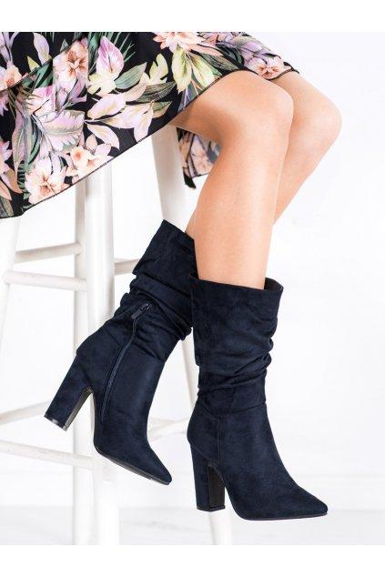 Modré čižmy Sweet shoes kod D7510D.BL