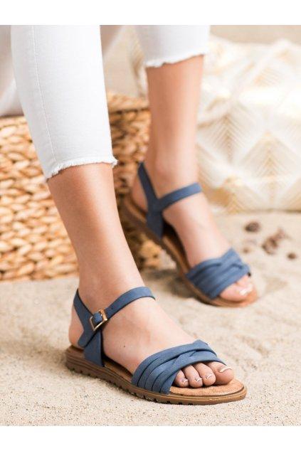 Modré sandále s plochou podrážkou Evento kod 20SD14-2065BL