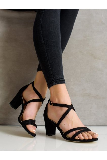 Čierne sandále Goodin kod GD-OD-93B
