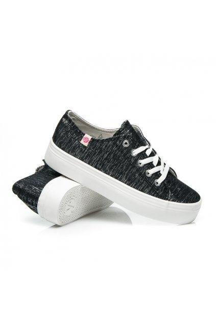 Plátené topánky na platforme K1620206NE (Veľkosť UK5 / EUR 38)