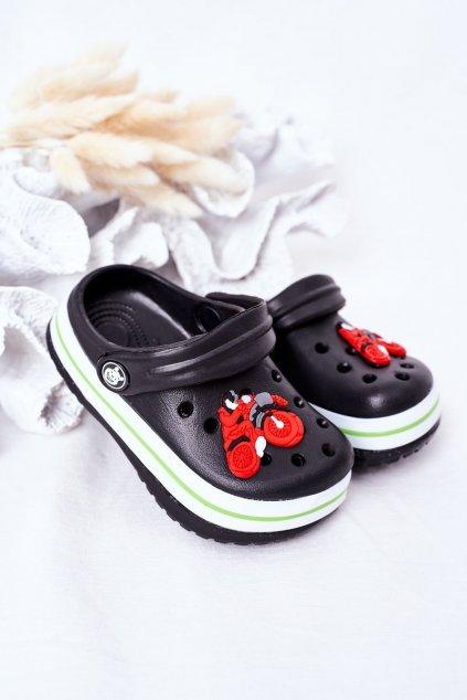 Detské šľapky farba čierna kód obuvi 8843CC BLACK
