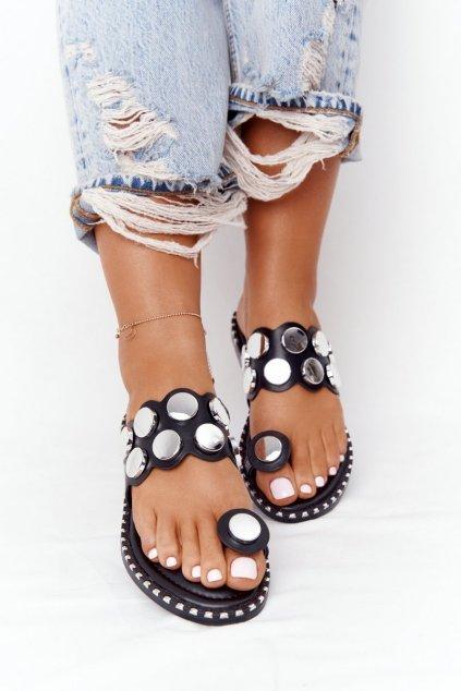 Dámske šľapky farba čierna kód obuvi SK78P BLK