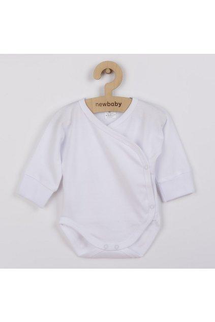 Dojčenské body s bočným zapínaním New Baby biele