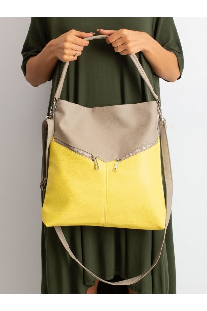 Tmavo béžová kabelka na rameno NJSK CE-TR-1964B.61