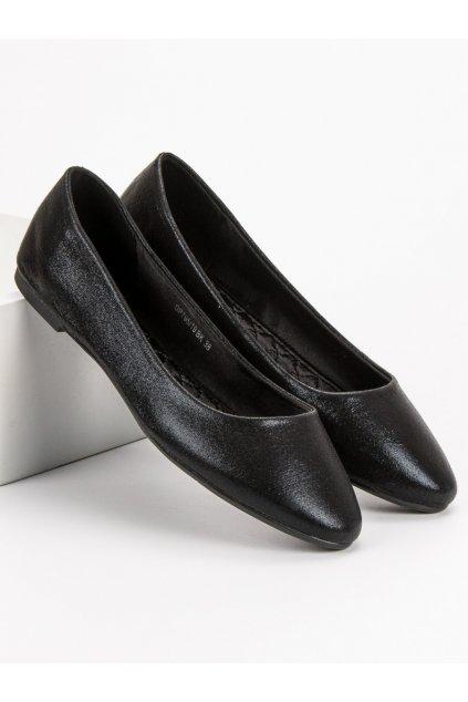 Klasické čierne baleríny Filippo