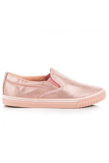 Ružové tenisky Slip on 8-26P