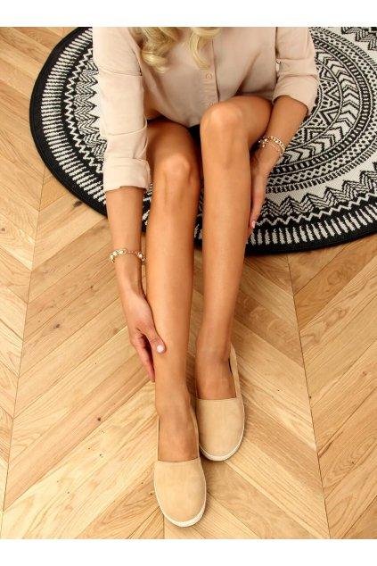Dámske sandále hnedé na plochom podpätku 7870