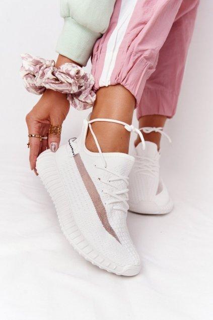 Dámske tenisky farba biela kód obuvi PC02 WHITE
