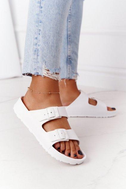 Dámske šľapky farba biela kód obuvi 9SD47-1230 WHITE