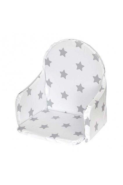 Vložka do drevených jedálenských stoličiek typu New Baby Victory biela hviezdičky
