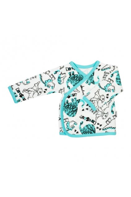 Dojčenská bavlněná košilka Nicol Dinosaur
