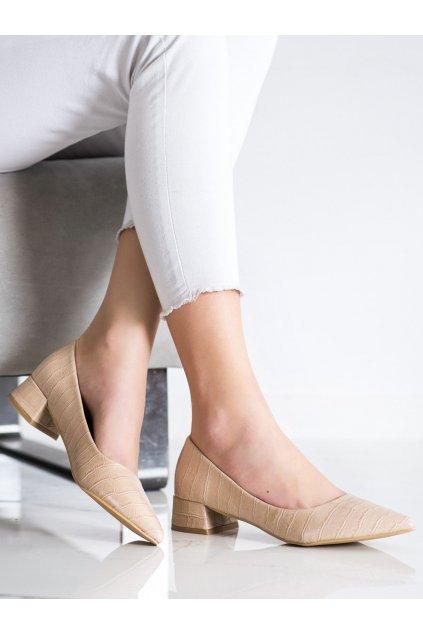 Hnedé dámske lodičky Sweet shoes kod 3845BE