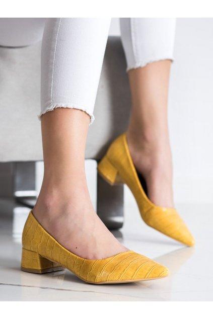 Žlté dámske lodičky Sweet shoes kod 3845Y