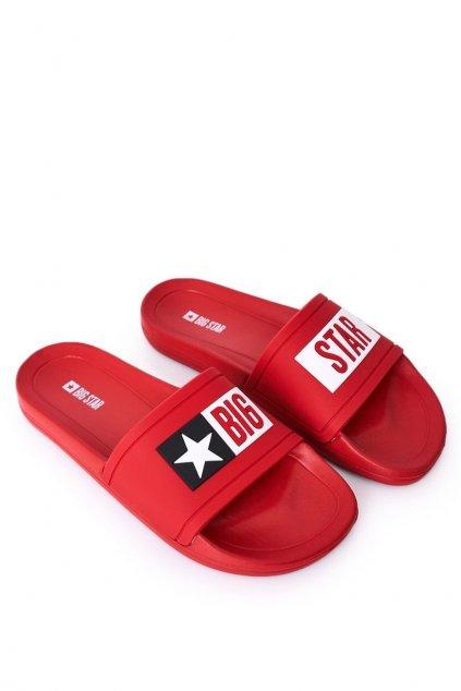 Pánske šľapky farba červená kód obuvi DD174702 RED