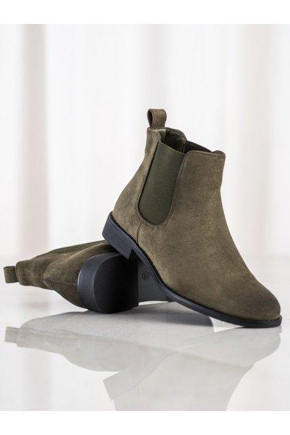 Zelené dámske topánky Ideal shoes kod 8310KHA