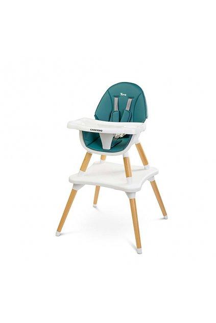 Jedálenská stolička CARETERO TUVA dark green