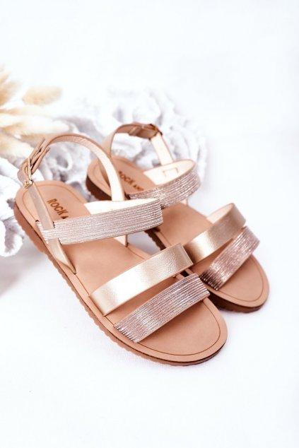 Detské sandále farba hnedá kód obuvi 255-B GOLD