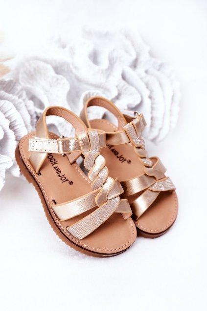 Detské sandále farba žltá kód obuvi 276-C GOLD