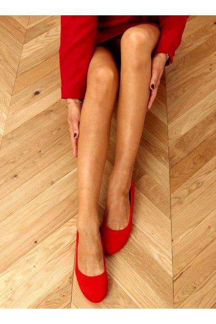 Dámske baleríny červené JX38