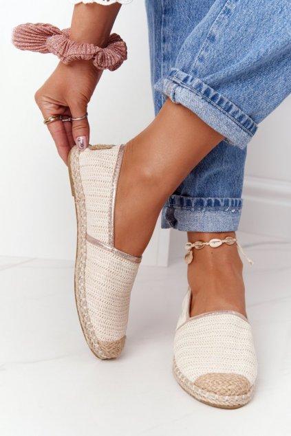 Dámske tenisky farba hnedá kód obuvi 2870-6 ECRU