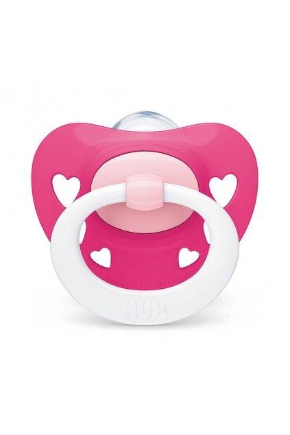 Dojčenský cumlík NUK Classic Signature 18-36m ružový heart