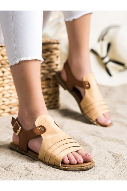 Hnedé dámske sandále Vinceza kod YQE21-17127BE