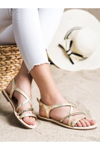 Žlté sandále Vinceza kod YQE21-17136GO