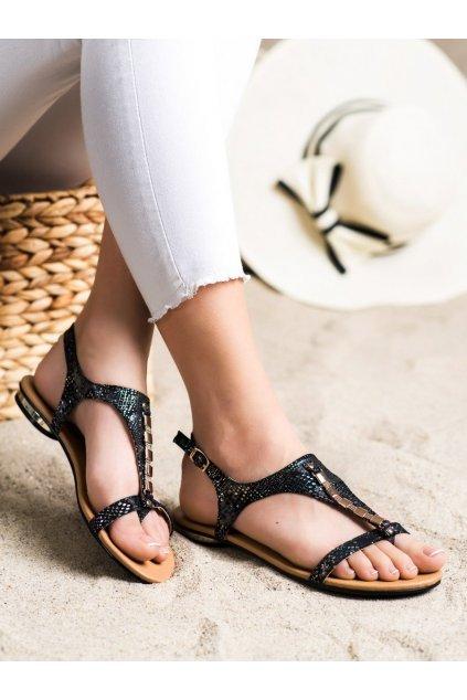 Čierne dámske sandále Vinceza kod YQE21-17128B/B