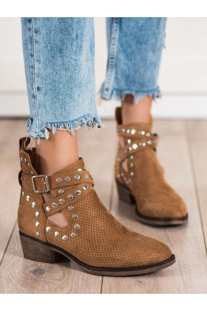 Hnedé dámske topánky Seastar kod NS196C