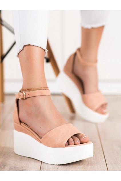 Hnedé sandále Comer kod AX-77BE