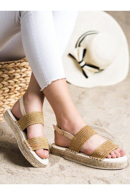 Odcienie pomarańczowego, odcienie brązu i beżu dámske sandále Shelovet kod WSA-65APR
