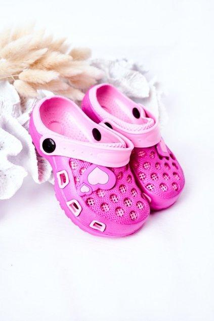 Detské šľapky farba ružová kód obuvi GY1008D FUCHSIA