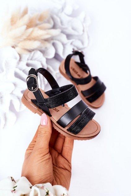 Detské sandále farba čierna kód obuvi 255-A BLACK