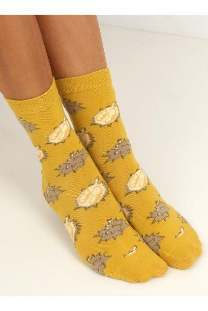 Damske ponožky žlté SK-NPC6886