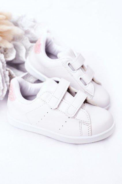 Detské tenisky farba ružová kód obuvi 807-F WHITE/PINK