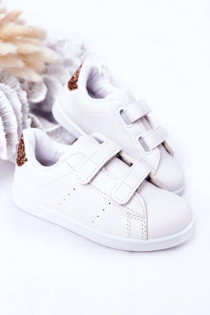 Detské tenisky farba biela kód obuvi 807-D WHITE/CHAMPAGNE