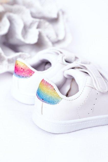 Detské tenisky farba biela kód obuvi 807-G WHITE/RAINBOW