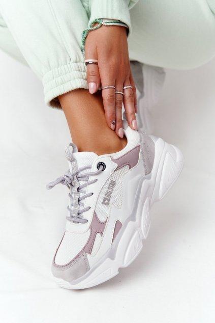 Dámske tenisky farba biela NJSK HH274255 WHITE/PURPLE