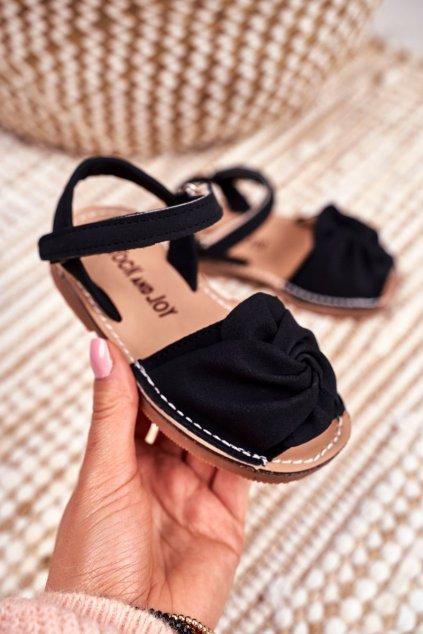 Detské sandále farba čierna NJSK 233-A BLK