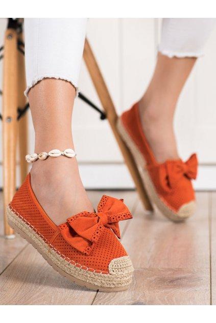 Oranžové dámske poltopánky Mannika kod J131-22OR