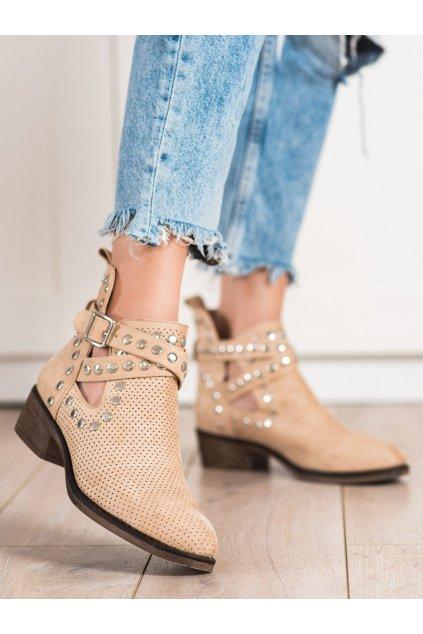 Hnedé dámske topánky Seastar kod NS196BE