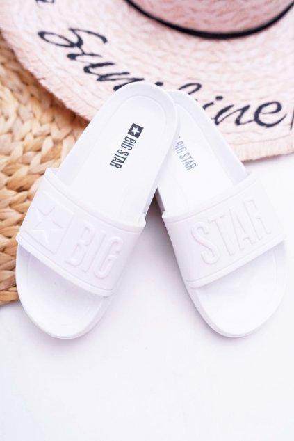 Detské šľapky farba biela NJSK DD374154 WHITE