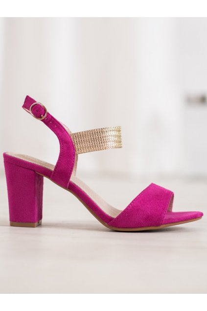Ružové sandále na podpätku Filippo NJSK DS817/19F