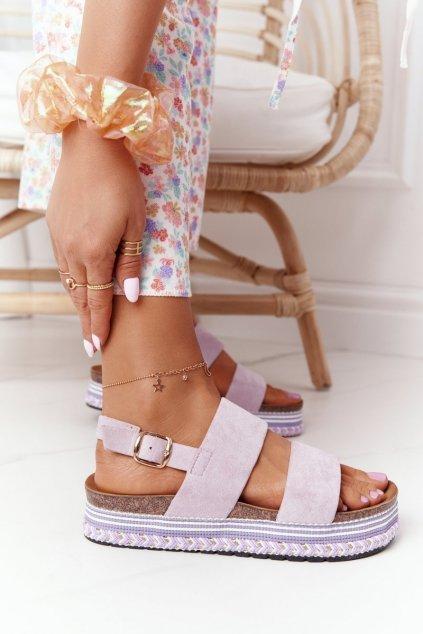 Dámske sandále farba viacfarebná kód obuvi 7857 PURPLE