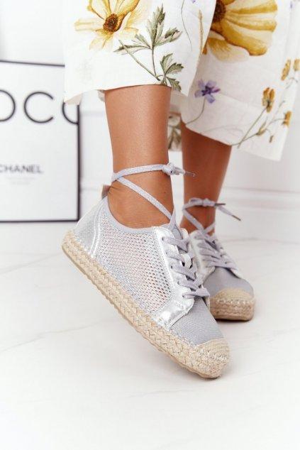 Dámske tenisky farba sivá kód obuvi L17704P SILVER