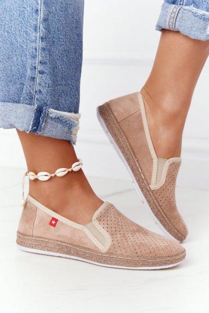 Dámske tenisky farba hnedá kód obuvi FF276035 BEIGE