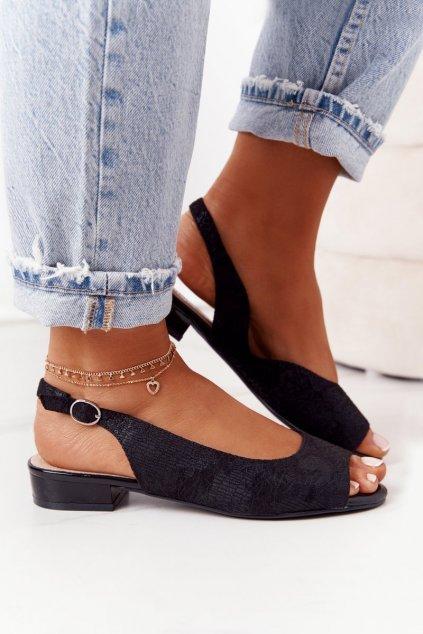 Dámske sandále farba čierna NJSK SK807 BLACK