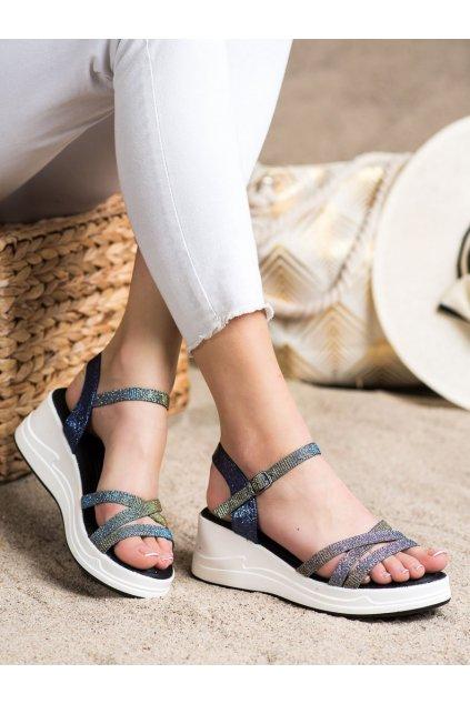 Modré sandále Small swan kod XH02DK.BL