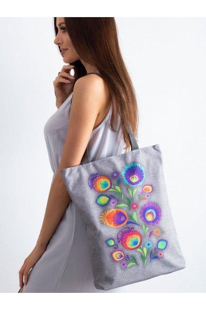 Textílna kabelka sivá kód CE-TR-016.68P/SunnyHANKA